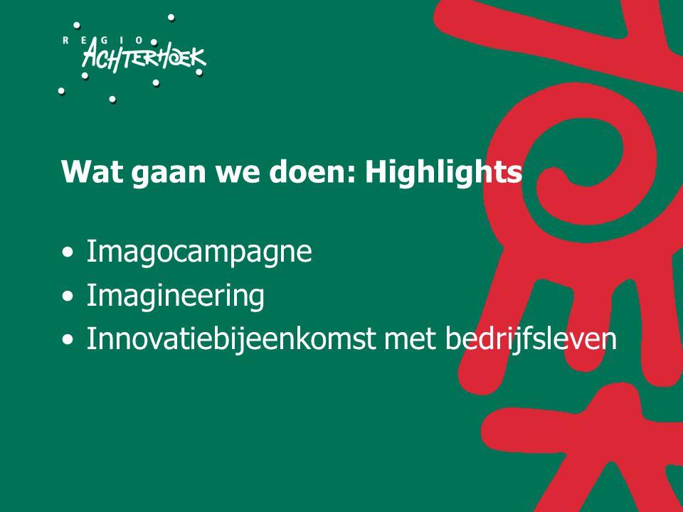Wat gaan we doen: Highlights Imagocampagne Imagineering Innovatiebijeenkomst met bedrijfsleven
