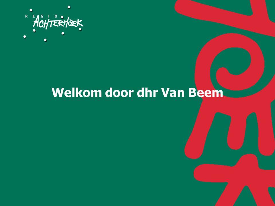 Welkom door dhr Van Beem