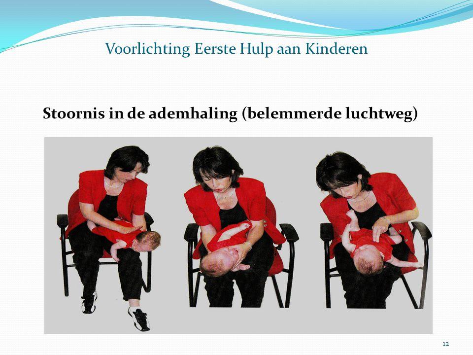 Voorlichting Eerste Hulp aan Kinderen Stoornis in de ademhaling (belemmerde luchtweg) 12
