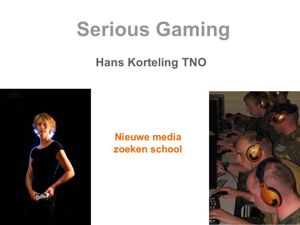 Serious Gaming Hans Korteling TNO Nieuwe media zoeken school