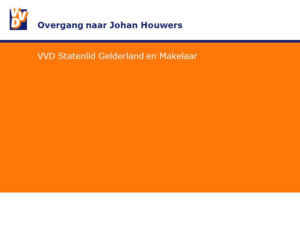 Overgang naar Johan Houwers VVD Statenlid Gelderland en Makelaar
