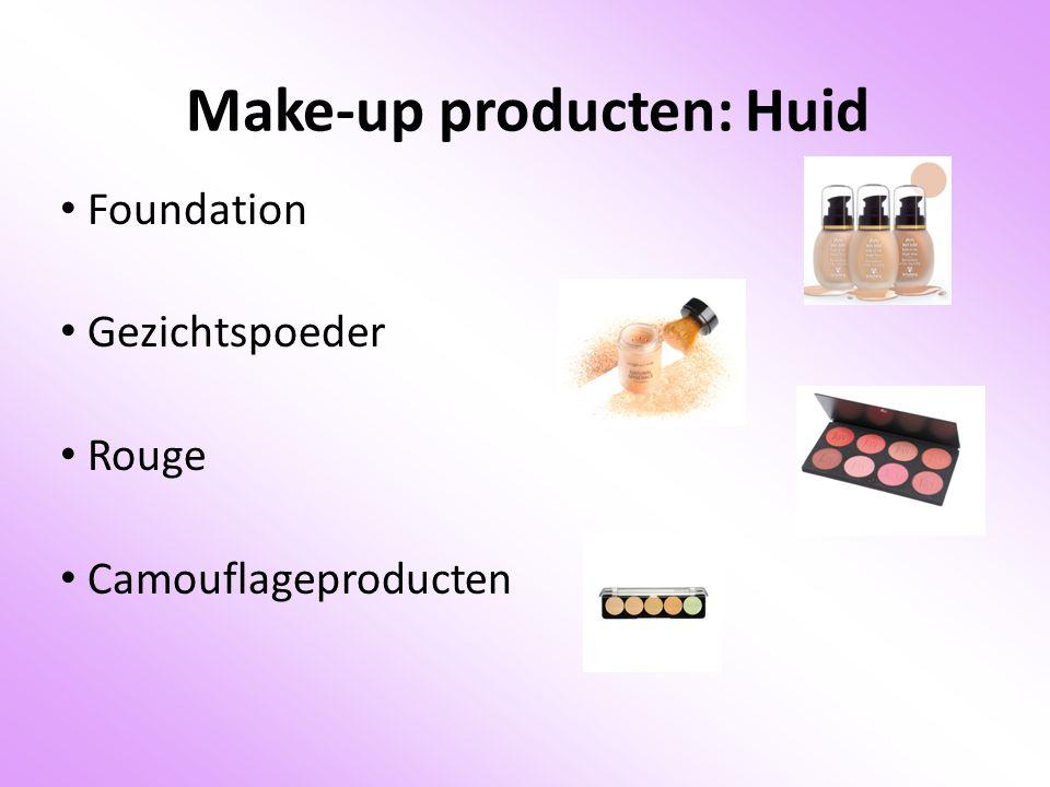Make-up producten: Huid Foundation Gezichtspoeder Rouge Camouflageproducten
