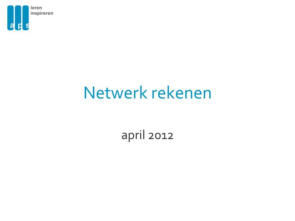 Netwerk rekenen april 2012