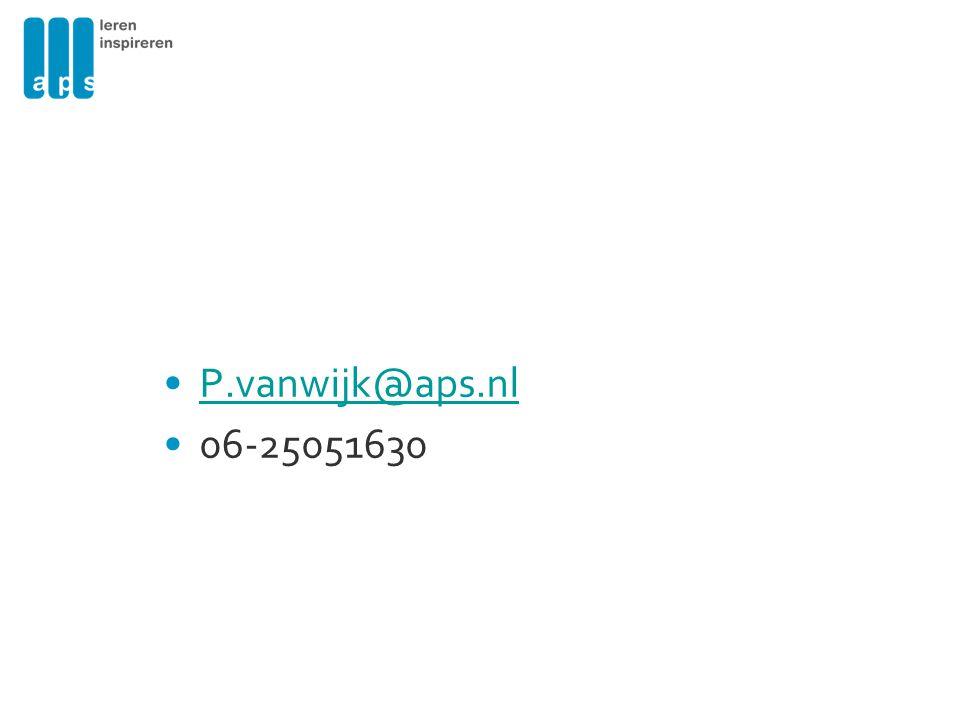 P.vanwijk@aps.nl 06-25051630