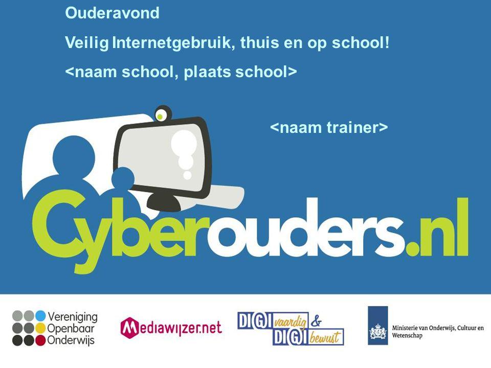 Ouderavond Veilig Internetgebruik, thuis en op school!