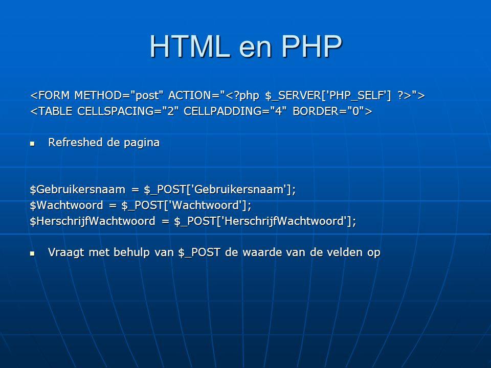 HTML en PHP