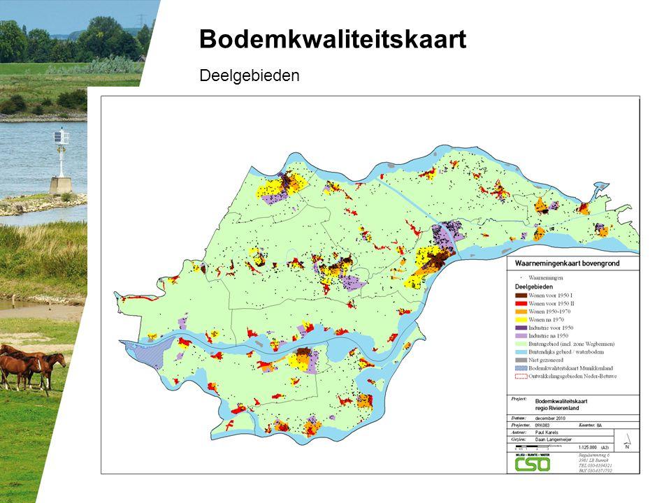 Bodemkwaliteitskaart Deelgebieden