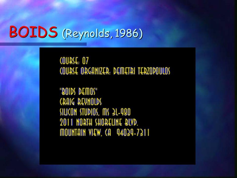 BOIDS (Reynolds, 1986)