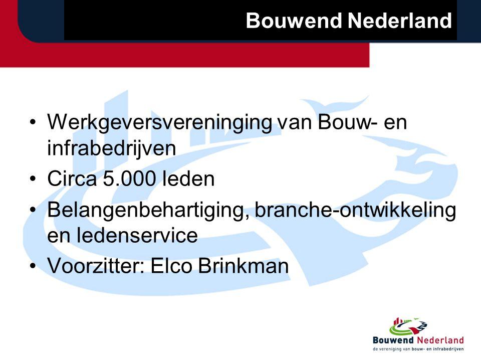 Bouwend Nederland Hoofdkantoor in Zoetermeer Foto: Ch. J. Groeneveld en 5 regio-kantoren