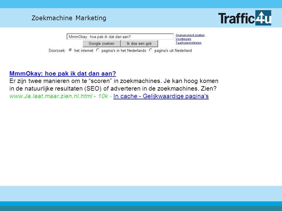 Zoekmachine Marketing SEO klinkt moeilijk, hoe zit het met dat adverteren.