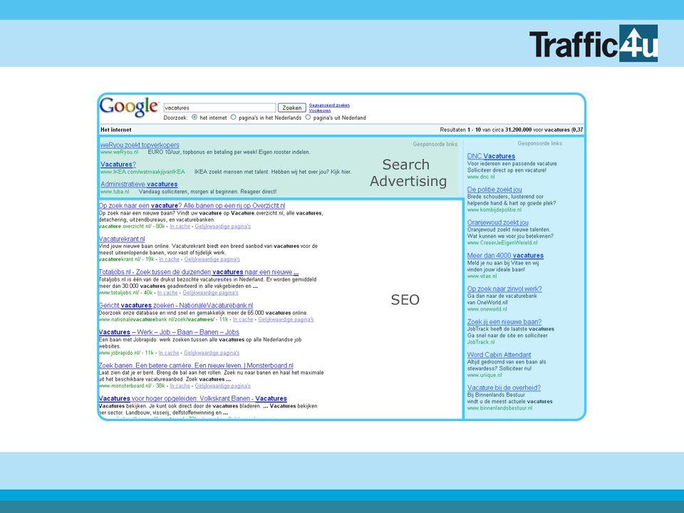 Eye Tracking Google-resultaten (bron: eyetools.com)