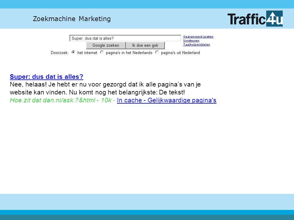 Zoekmachine Marketing Aan wie kan ik mijn vragen stellen over deze presentatie.