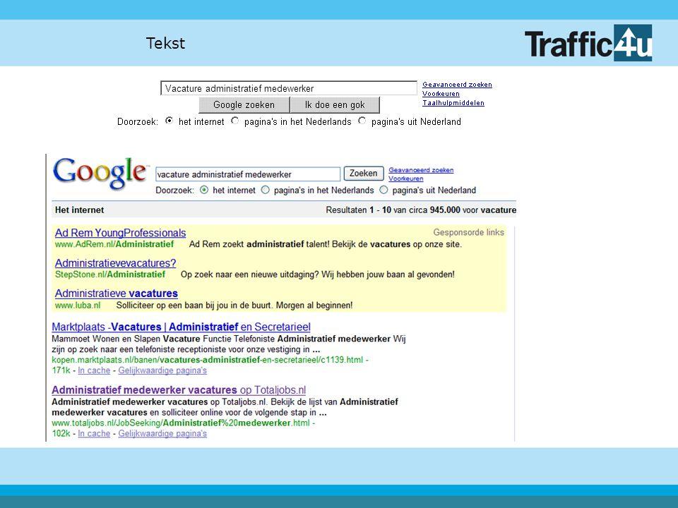 Tips: Gebruik de Titel Gebruik de URL Gebruik de Headers Keyword 2-7% van de tekst