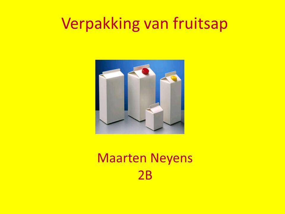 Verpakking van fruitsap Maarten Neyens 2B