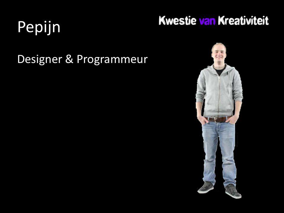 Pepijn Designer & Programmeur