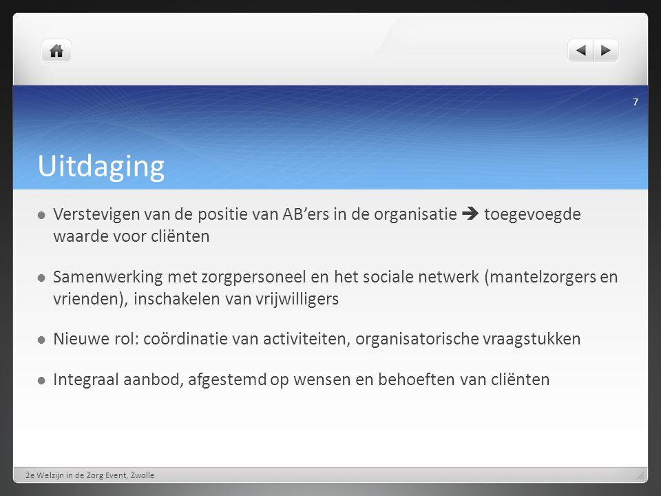 Activiteiten in de huiskamer 2e Welzijn in de Zorg Event, Zwolle 8