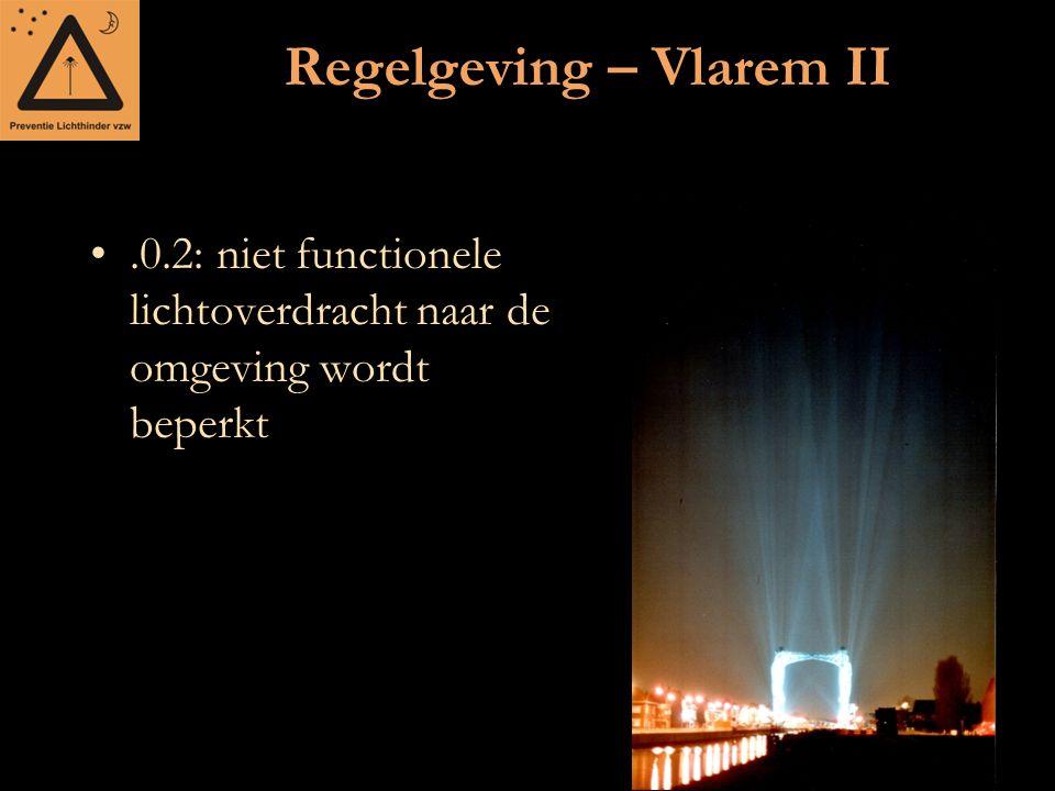 Regelgeving – Vlarem II.0.2: niet functionele lichtoverdracht naar de omgeving wordt beperkt