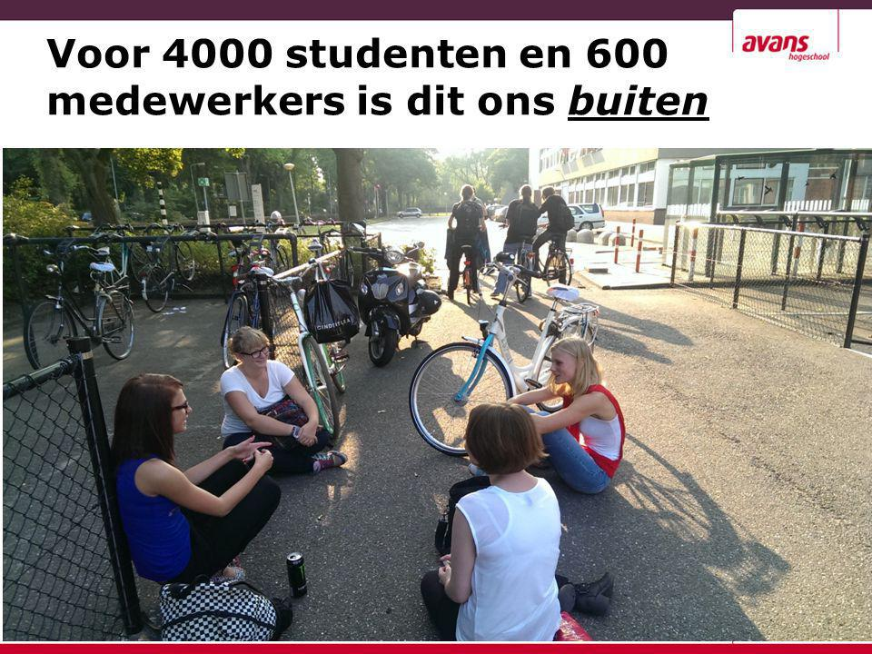 Kenmerk: AvdD - BIC 8 oktober 2009 Voor 4000 studenten en 600 medewerkers is dit ons buiten