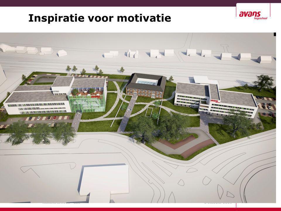 Kenmerk: AvdD - BIC 8 oktober 2009 Inspiratie voor motivatie