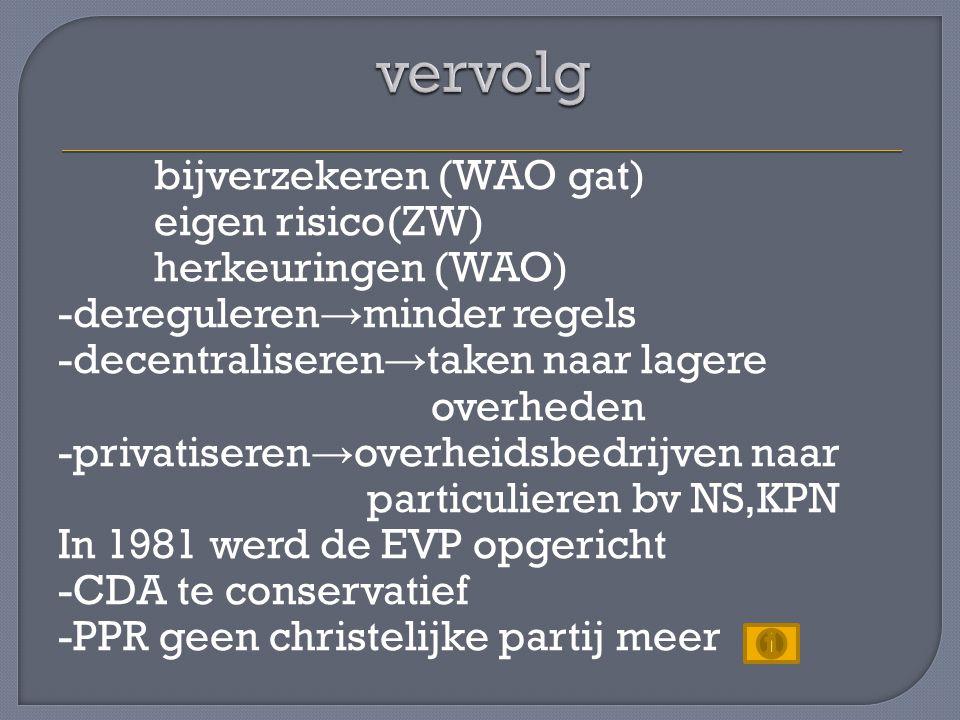 In 1983 werd de grondwet gewijzigd -artikel 1 (anti-discriminatie artikel) -sociale grondrechten in de grondwet (intentieverklaring,niet afdwingbaar bij de rechter) → Nederland nu ook een sociale rechtsstaat