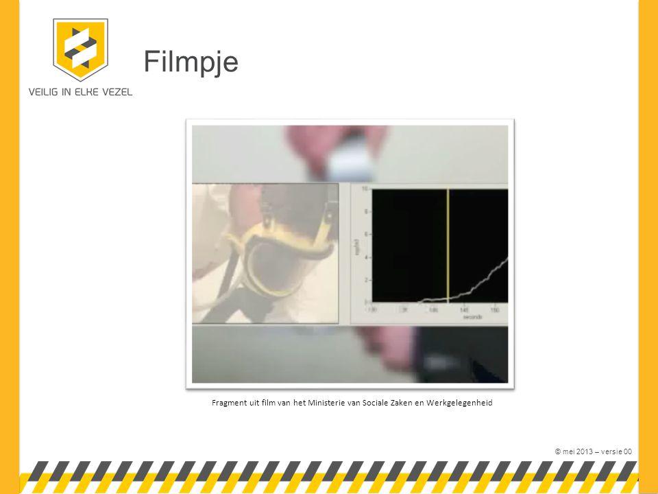 © mei 2013 – versie 00 Filmpje Fragment uit film van het Ministerie van Sociale Zaken en Werkgelegenheid