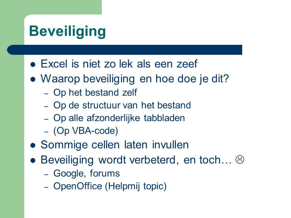 Excel op het web (5) ASAP Utilitieswww.asap-utilities.comBastien Mensink Power Utility Pak (paid)j-walk.com/ss/pup/pup6John Walkenbach Chart labelerwww.appspro.com/Utilities/ChartLabeler.htmRob Bovey TranslateItmembers.chello.nl/jvolk/keepitcool/download.htmlJurgen Volkerink MZ Toolswww.mztools.comCarlos Quintero Indent VBA codewww.bmsltd.ie/indenter/IndentPage.aspStephen Bullen Games in Excelwww.xl-logic.comAaron Blood...
