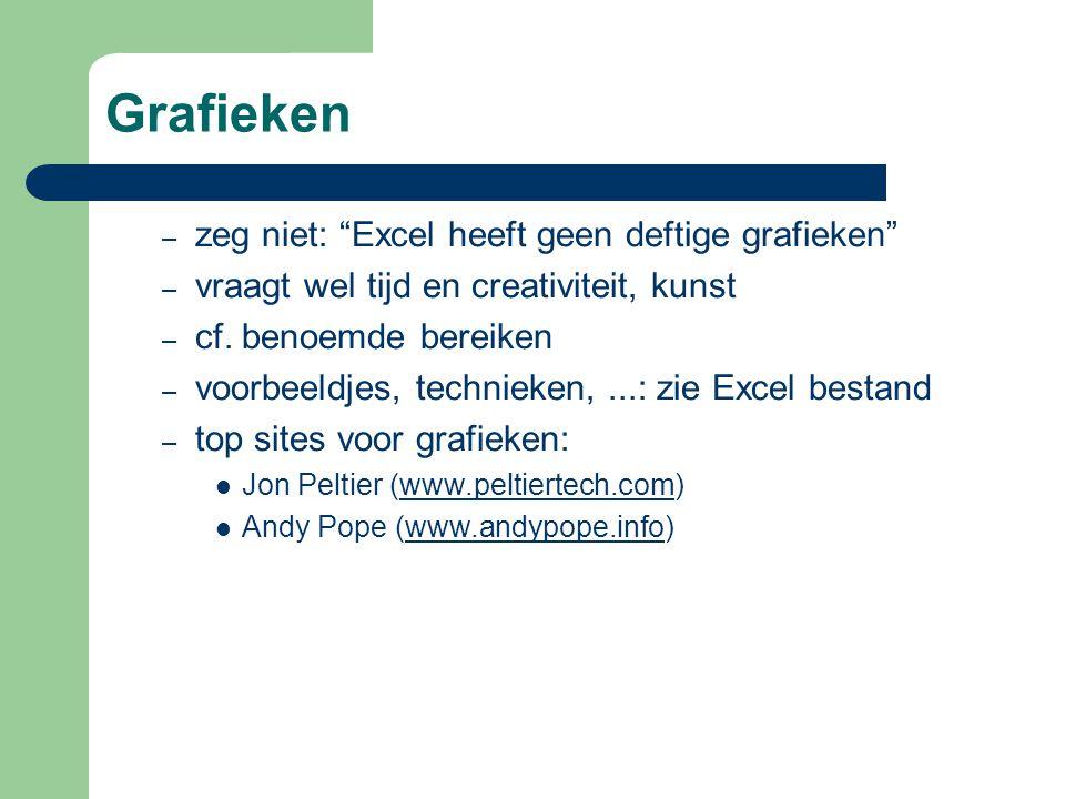 Grafieken – zeg niet: Excel heeft geen deftige grafieken – vraagt wel tijd en creativiteit, kunst – cf.
