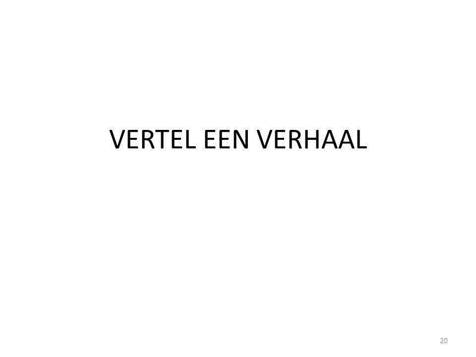 VERTEL EEN VERHAAL 20