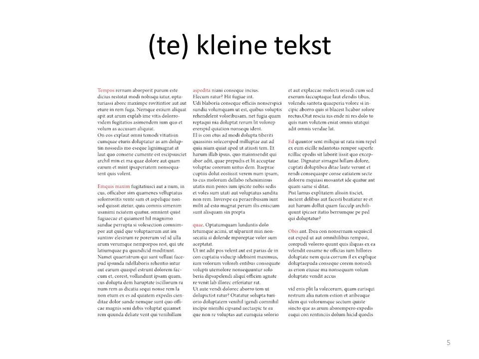 (te) kleine tekst 5