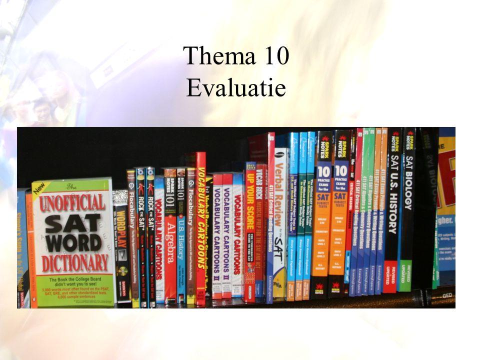 De verslagen van de doorlichting zijn openbaar Mesoniveau: evaluatie op schoolniveau
