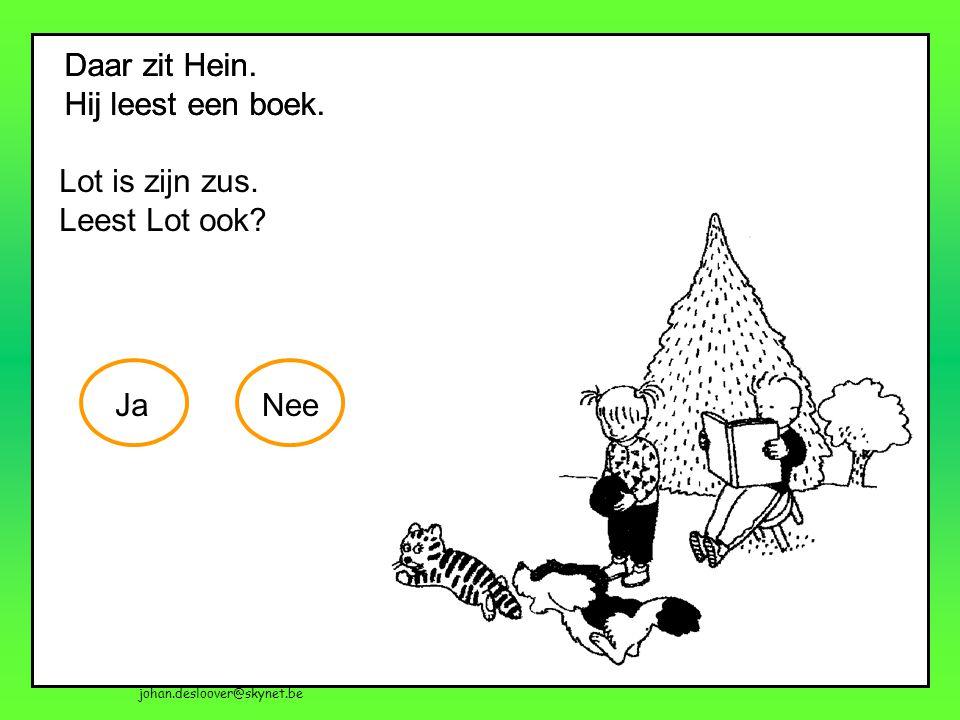 johan.desloover@skynet.be Daar zit Hein. Hij leest een boek. Wie is Hein?