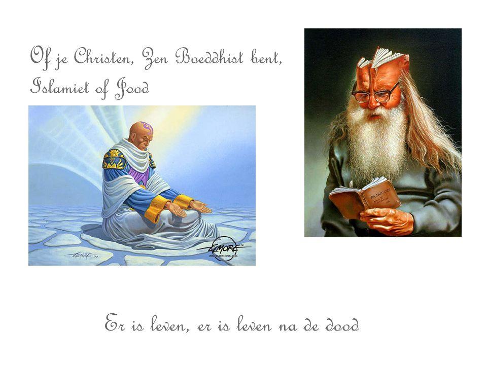 Of je Christen, Zen Boeddhist bent, Islamiet of Jood Er is leven, er is leven na de dood