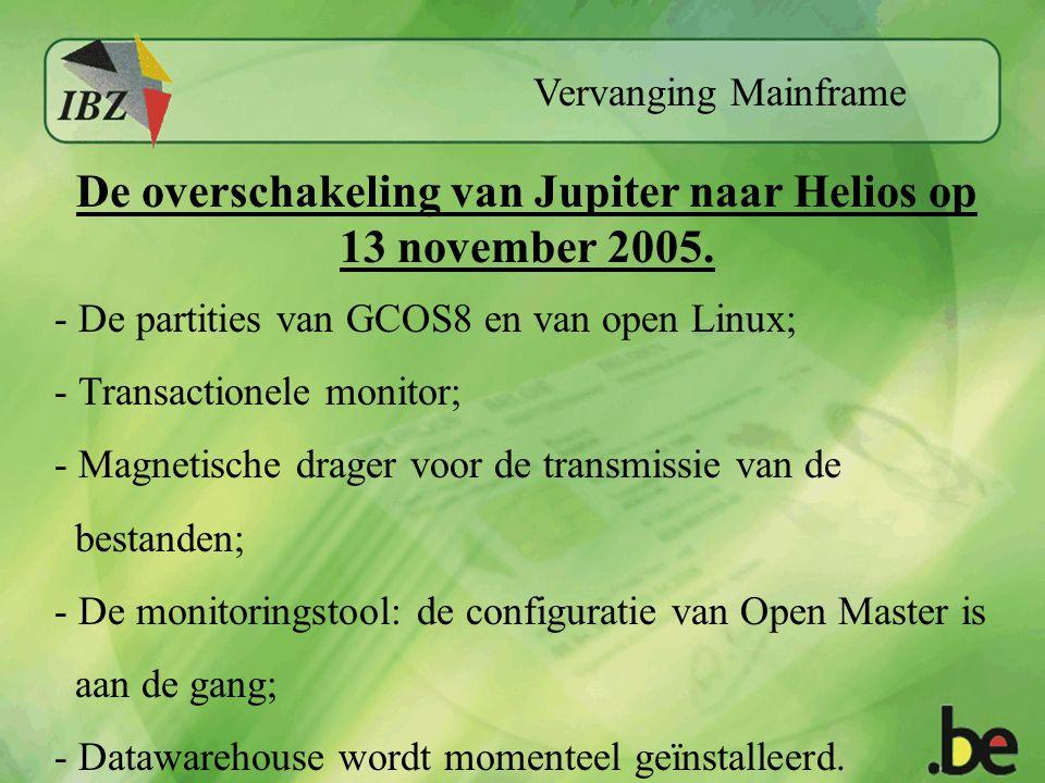 Vervanging Mainframe De overschakeling van Jupiter naar Helios op 13 november 2005.