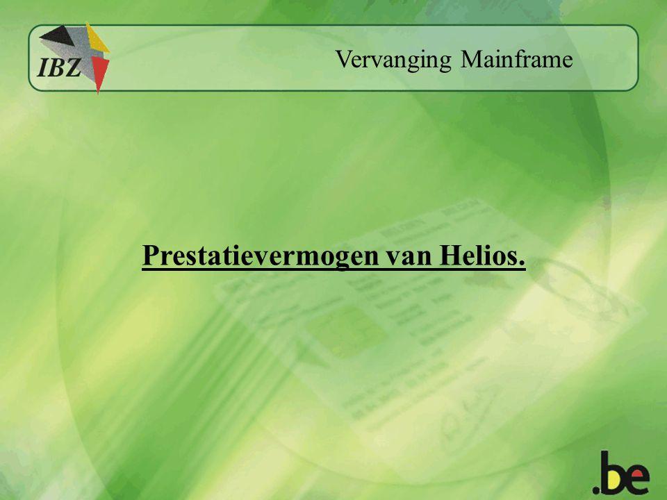 Vervanging Mainframe Prestatievermogen van Helios.
