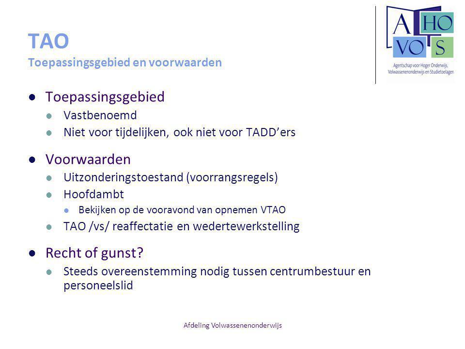 Afdeling Volwassenenonderwijs Oefeningen Opdracht van een leraar SVWO op 1 september 2012 - 10/21 vastbenoemd en 8/20 tijdelijk.
