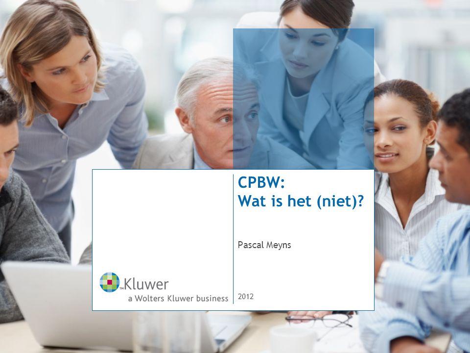 CPBW: Wat is het (niet)? Pascal Meyns 2012