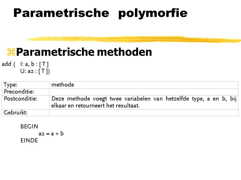 Parametrische polymorfie zParametrische methoden