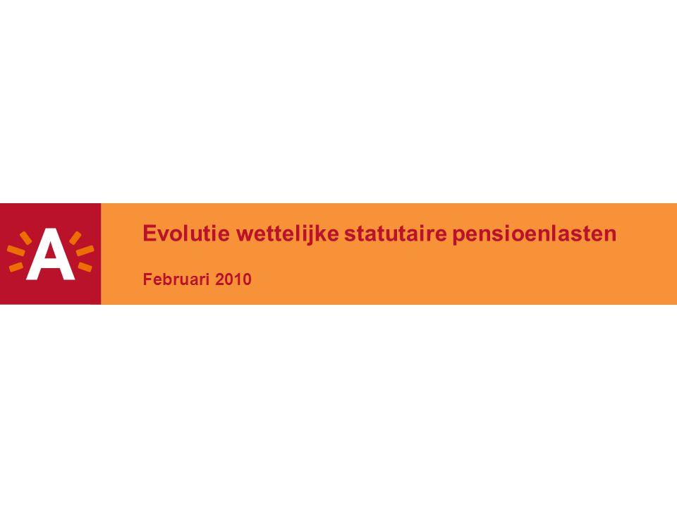 Evolutie wettelijke statutaire pensioenlasten Februari 2010