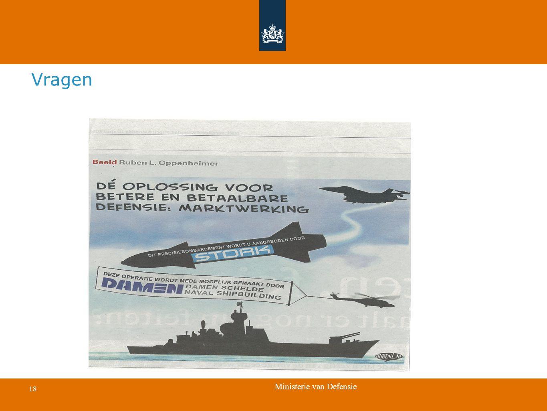 Ministerie van Defensie 18 Vragen