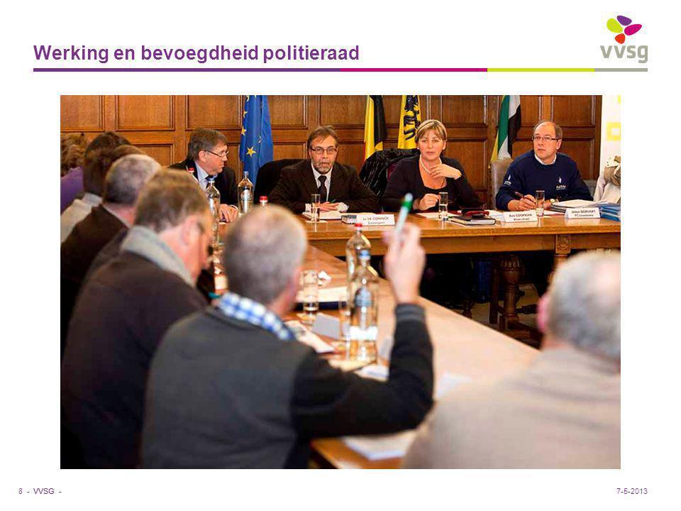VVSG - Werking en bevoegdheid politieraad 8 -7-5-2013