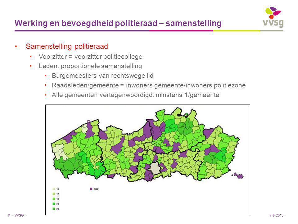 VVSG - Uitdagingen voor de politiezones Pensioenhervorming = structurele verhoging gem.