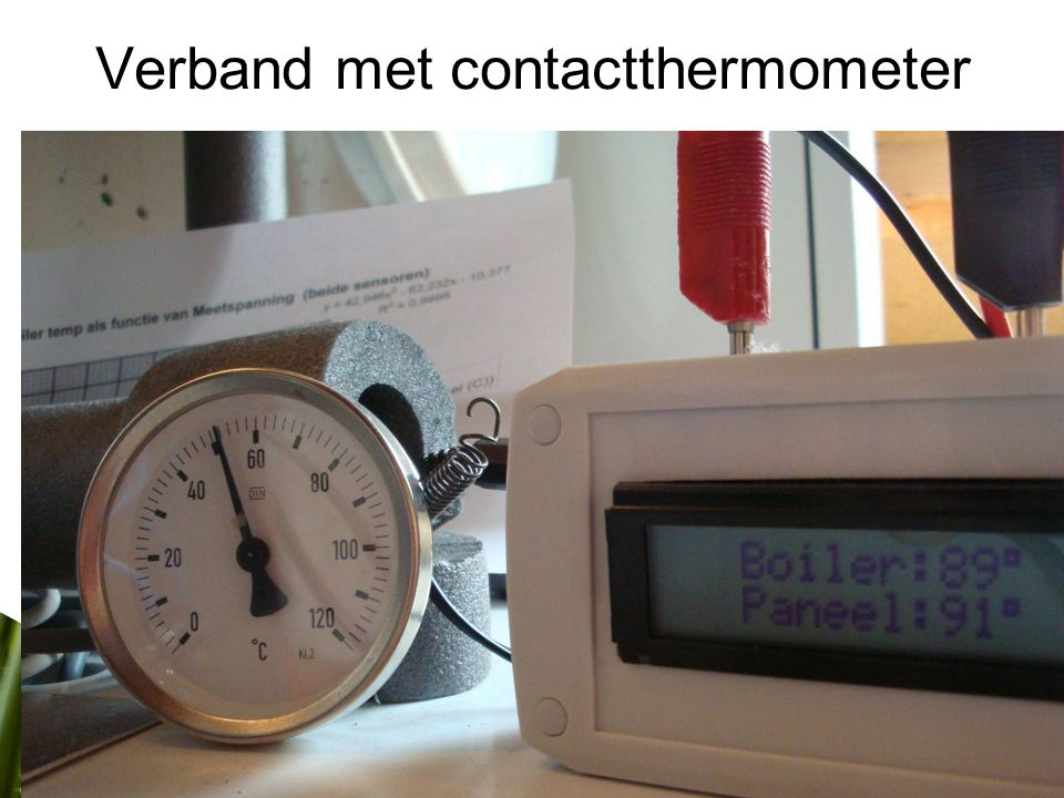 Verband met contactthermometer