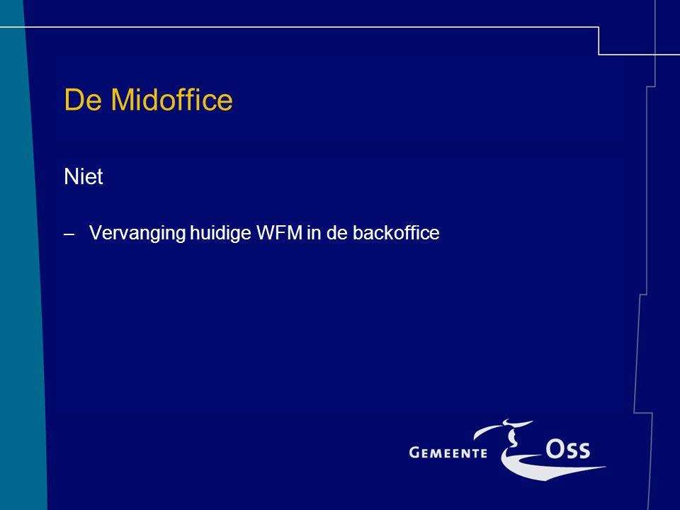 De Midoffice Niet –Vervanging huidige WFM in de backoffice