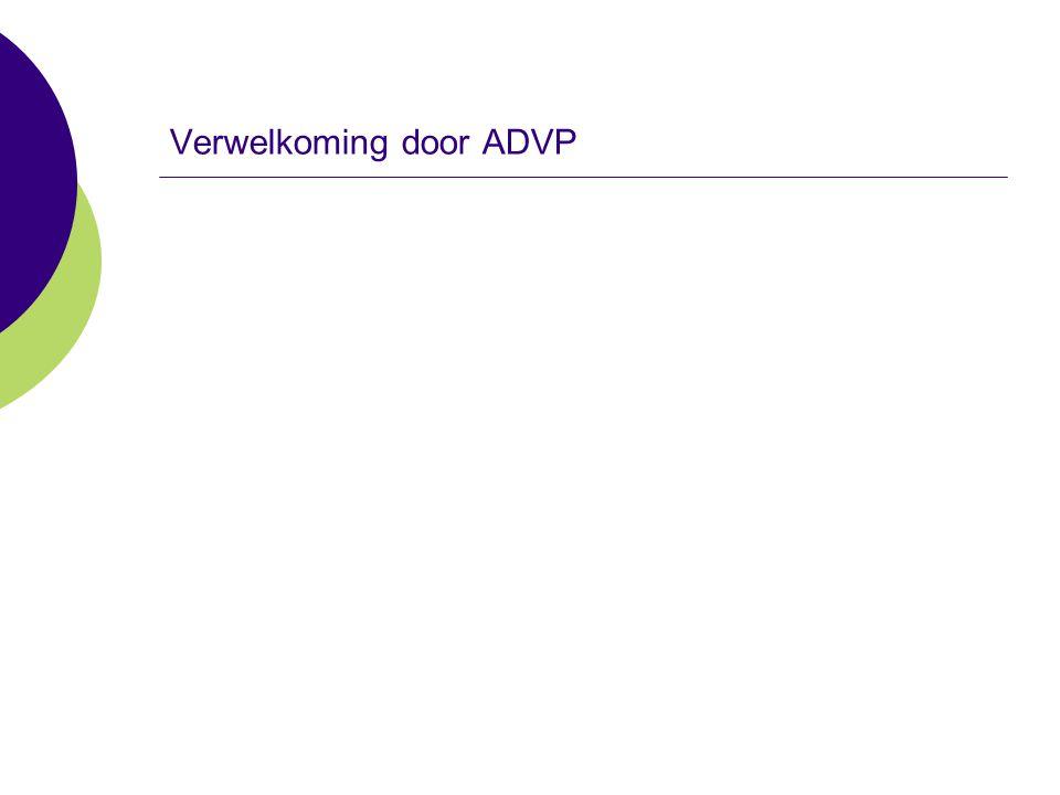 Verwelkoming door ADVP