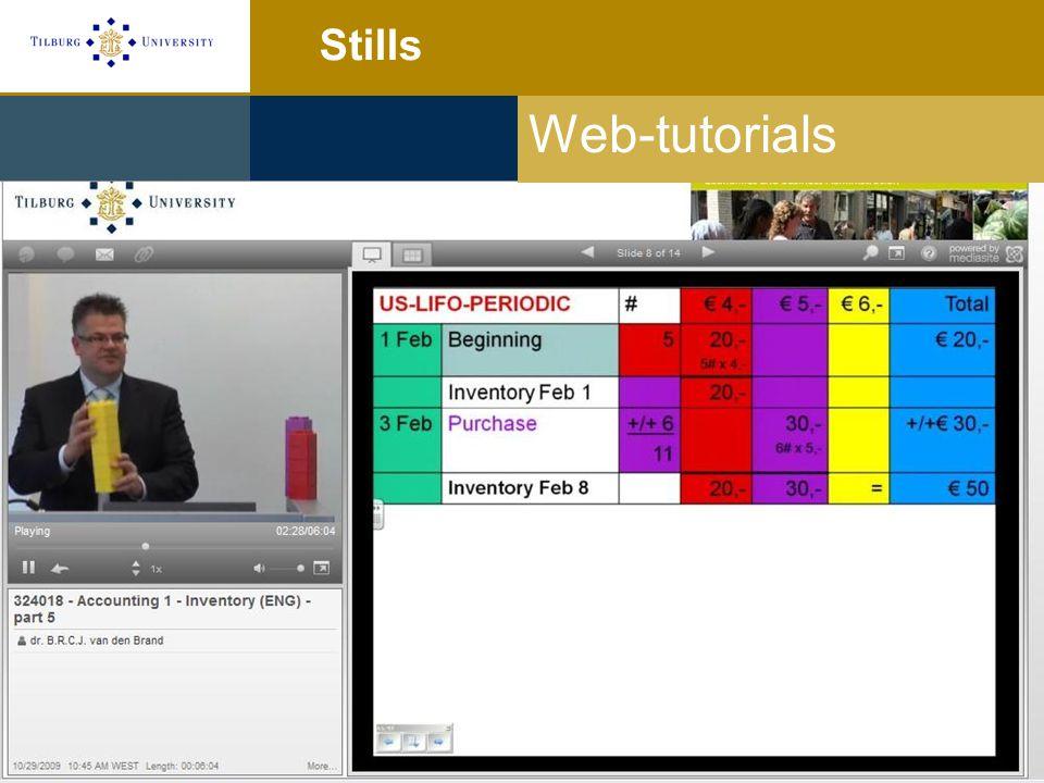 Stills Web-tutorials