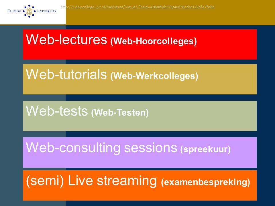 Stills Web-lectures