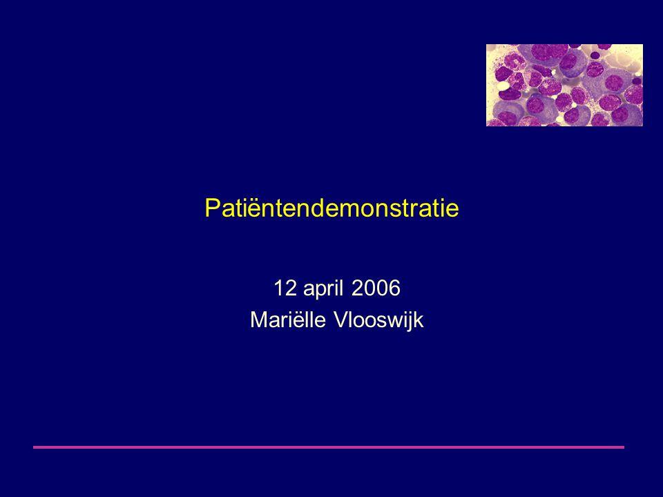 Patiëntendemonstratie 12 april 2006 Mariëlle Vlooswijk