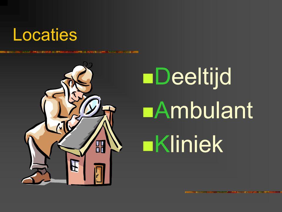 Locaties Deeltijd Ambulant Kliniek
