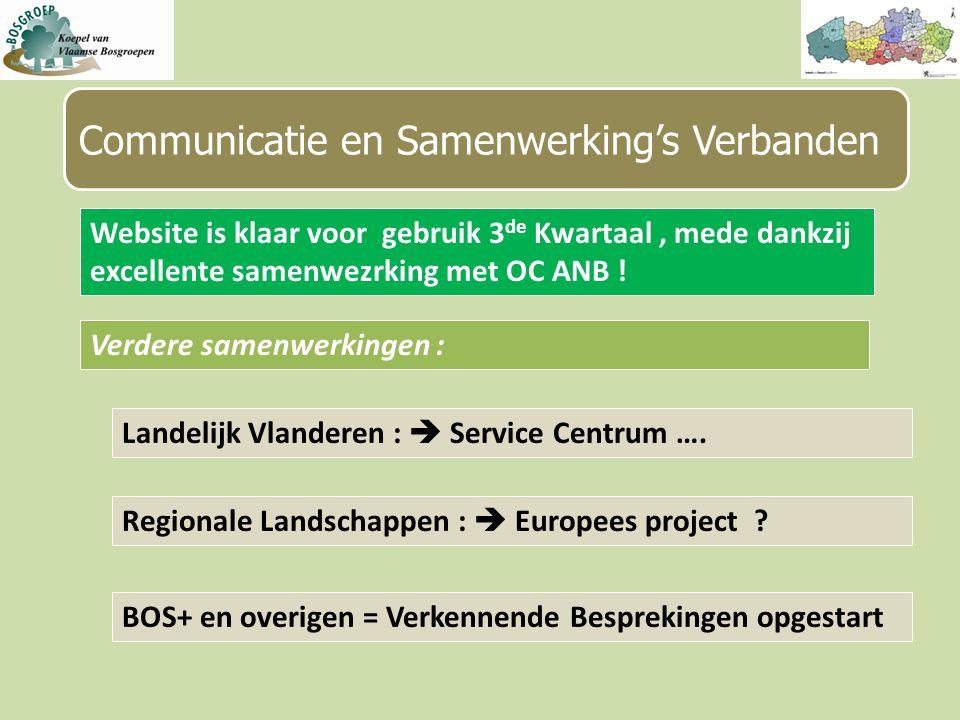 Communicatie en Samenwerking's Verbanden Landelijk Vlanderen :  Service Centrum ….