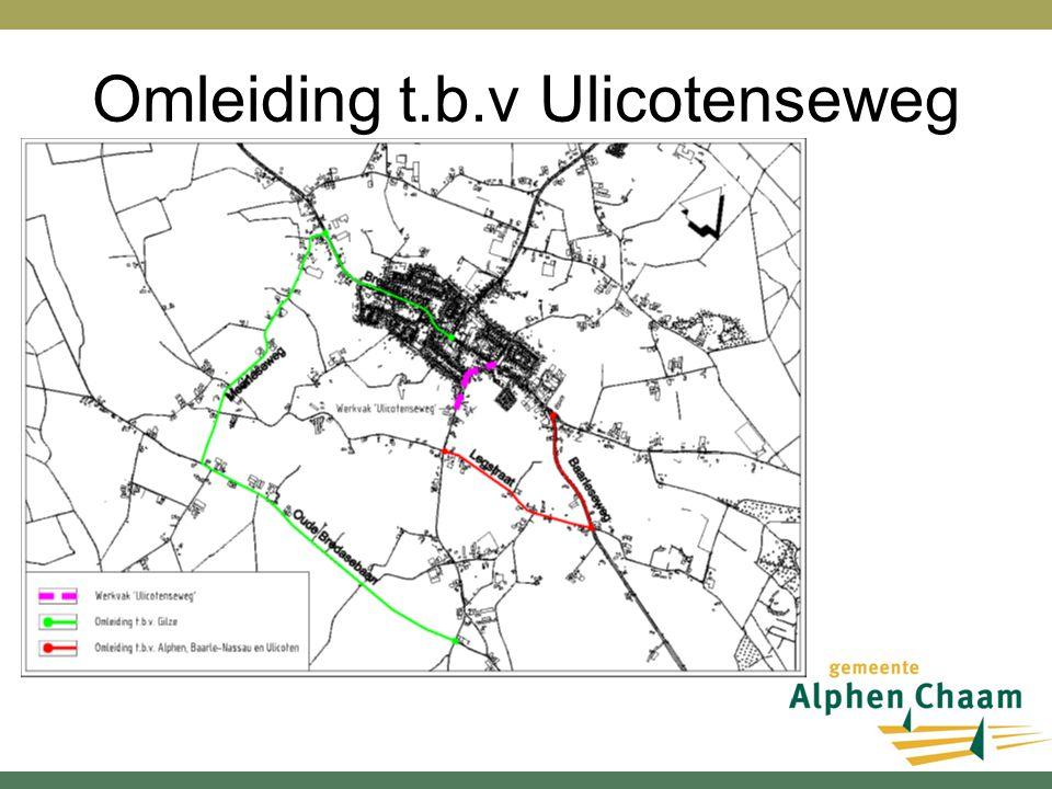 Omleiding t.b.v Ulicotenseweg
